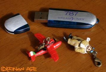 ボーイング787のUSBメモリ